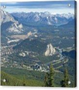 Overlook Banff Vista Acrylic Print