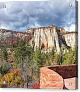 Overlook In Zion National Park Upper Plateau Acrylic Print