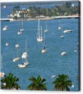 Overlooking A Miami Marina Acrylic Print