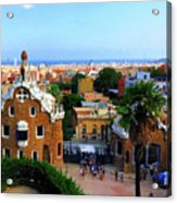 Overlooking Barcelona From Park Guell Acrylic Print