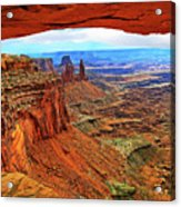 Overlooking Canyonlands National Park    Moab Utah Acrylic Print