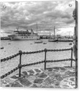 Overlooking Playa Blanca Harbour Acrylic Print