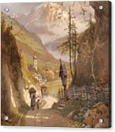 Overlooking Ramsau Bei Berchtesgaden Acrylic Print