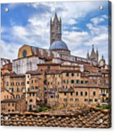 Overlooking Siena And The Duomo Acrylic Print