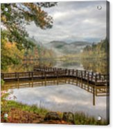 Overlooking The Beauty Of The Lake Acrylic Print