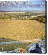 Overlooking The Grand Tetons Jackson Hole Acrylic Print by Dustin K Ryan