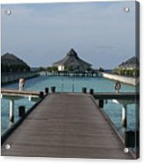 Overwater Bungalows Acrylic Print