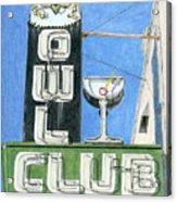 Owl Club Acrylic Print