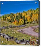 Owl Creek Pass Road Acrylic Print