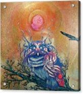 God King Owl Acrylic Print
