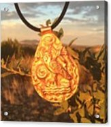 Owl Pendant Acrylic Print