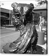 Owl Sculpture Grand Junction Co Acrylic Print