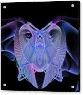 Owleus Barneous Abstractacus Acrylic Print