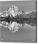 Oxbow Bend Panorama Black And White Acrylic Print