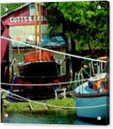 Oxford Boat Works Acrylic Print