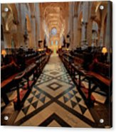 Oxford Cathedral Nave Acrylic Print