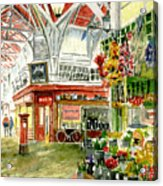 Oxford's Covered Market Acrylic Print