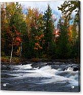Oxtongue River Ontario Autumn Scenery Acrylic Print