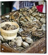 Oysters At The Market Acrylic Print