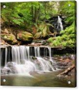 Ozone Falls Ricketts Glen Acrylic Print