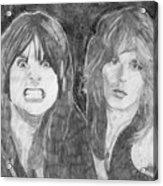 Ozzy Osbourne And Randy Rhoads Acrylic Print