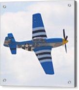 P-51 Mustang American Rose Acrylic Print