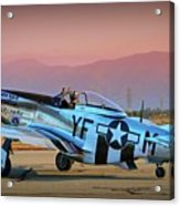 P-51d Mustang 'dakota Kid II. The Long Island Kid' And Casey Odegaard Acrylic Print