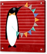 P Is For Penguin Acrylic Print