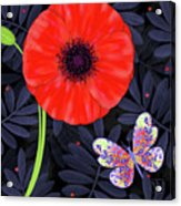 P Is For Pretty Poppy Acrylic Print