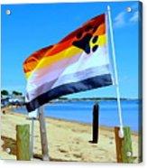 P Town Bear Flag Acrylic Print