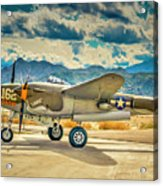 P38 Fly In Acrylic Print