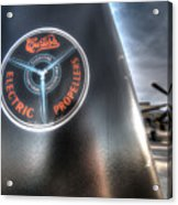 P40 Prop With A P51 Mustang Acrylic Print