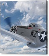 P51 In The Clouds Acrylic Print