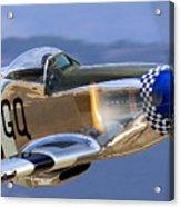P51d Mustang At Salinas Acrylic Print