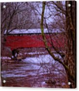 Pa Covered Bridge Acrylic Print