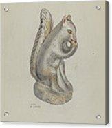 Pa. German Chalkware Squirrel Acrylic Print