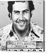 Pablo Escobar Mugshot Acrylic Print