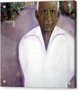 Pablo Picasso At Villa Mariposa Acrylic Print