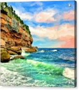 Pacific Coast At Big Sur Acrylic Print