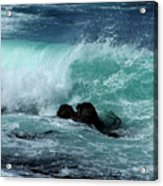Pacific Coast Crashing Wave Photograph Acrylic Print