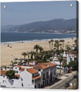 Pacific Coast Highway Along Santa Monica Beach Acrylic Print