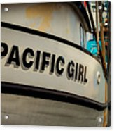 Pacific Girl Acrylic Print