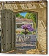 Pacific House Garden Watercolors Acrylic Print