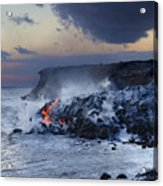 Pacific Lava Flow Acrylic Print by Dave Fleetham - Printscapes