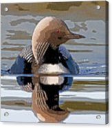 Pacific Loon Making Waves- Abstract Acrylic Print by Tim Grams