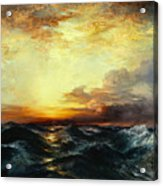 Pacific Sunset Acrylic Print by Thomas Moran