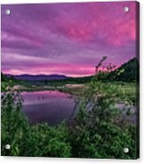 Pack River Sunset Acrylic Print