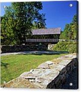Packard Hill Covered Bridge - Lebanon New Hampshire  Acrylic Print
