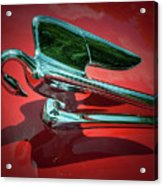 Packard Caribbean Hood Ornament Acrylic Print