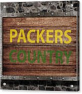 Packers Country Medieval  Acrylic Print